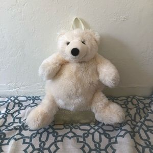90s vintage Teddy Bear Mini Back pack White Bag